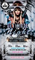 FREEMIUM PSD Ultimate night flyer by ultimateboss