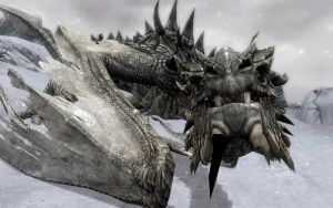 Skyrim Screenshots- Meeting Paarthurnax by vincent-is-mine