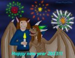 Happy new year 2013! by KuznyaDragonOfBaa