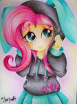 Fluttershy Equestria Girls Draw by ELJOEYDESIGNS