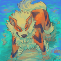 Arcanine speedpaint by Spartan-Cheetah