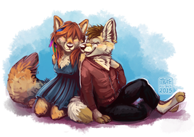 Hanging Out by ThayRustback