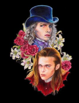 Lestat and Louis bookmark by Glandal