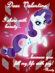 Rarity Valentine's Day Card by AleximusPrime