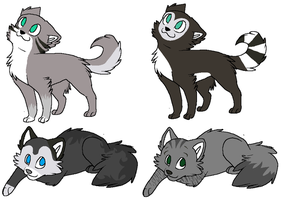 Stormblaze X Riverfur Kits by SkylarCat