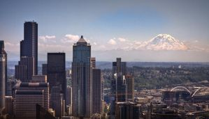 Mt. Rainier - HDR by aeroartist