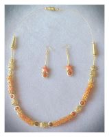 Gloria's coral bead necklace by OohShinyJewelry