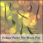 Exclusive Painted Hair Strands by EvanescentAngel666