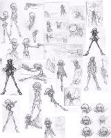 Zombie Gunslayer sketch sheet by vins-mousseux