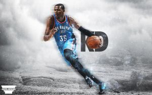 Kevin Durant Game Day Poster by AMMSDesings