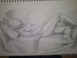 My first model drawing by Psychedelic-PURR