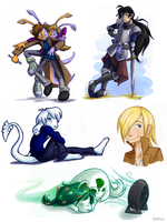 Some coloured sketches. by tamia-shade