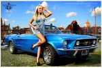 Ford Mustang 1967 Acapulco Blue Lines by radoslawstuba