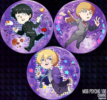 Mob Psycho 100 Charms by Dragons-Roar