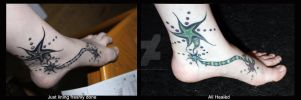 Foot Tattoo 01 by SketchyFaceStuff