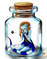 I am in a bottle by Venetia-TH