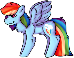 Rainbow Dash by N00D13-53NP41