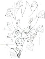 Classic Super Sonic sketch by trunks24