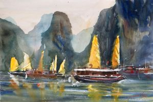 Ha Long Bay, 38x56cm by NiceMinD
