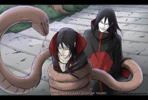 Itachi vs Orochimaru..too gay. by Kibbitzer