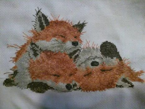 Afternoon Nap cross stitch by Hami2000