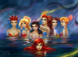 Disney's Mermaids by daekazu