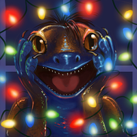 Carrot Gecko Winter Icon by thornwolf