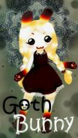 Goth bunnydoll by bolt-for-home