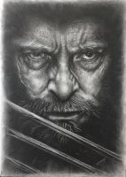 Hugh Jackman as Logan in Charcoal 2 by JonARTon
