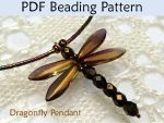Dragonfly Pendant PDF Beading Pattern by SimpleBeadPatterns