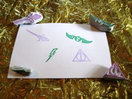 Harry Potter Stamps! by Shakeitlikeaparsnip
