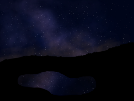 Stars over a lake by ItsGehrke