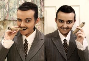 Gomez Addams - Makeup Test by xHee-Heex
