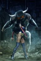 REIGN OF THE MINOTAUR - MS AMAZING by isikol