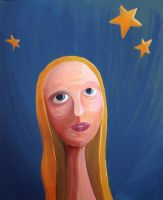 girl with the moon in her eyes by themanda
