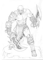Kratos pencils by RubusTheBarbarian