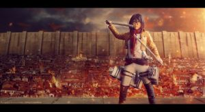 Mikasa ready to fight by StudioMadhouse