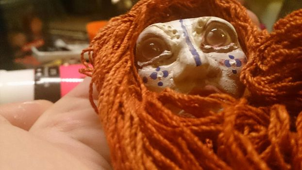 Ginger pink eyed female doll process 3 by AnetteAga