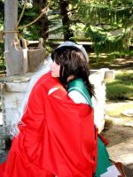 Inuyasha and Kagome by the Well 4 by Indy-Sumisu