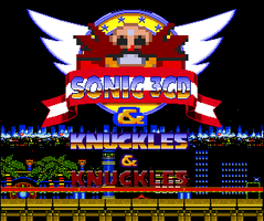 Sonic 3CD and Knuckles and Knuckles title screen by OMGWEEGEE2