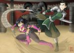Commission: Mileena Vs Kuvira by Blunt-Katana