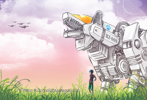 ZOIDS - Keith and Leukos by SakuraBomb