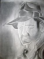 Indiana Jones Charcoal by MinIndy
