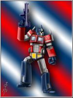 Optimus Prime by cheddarpaladin