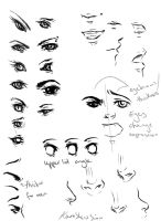 Eyes, noses, mouths by RockitRocket-RIR