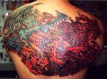 devil angel back piece by ShannonRitchie