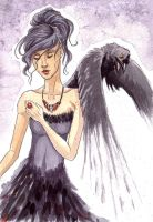 The Raven Lady. by AriaDog