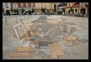 Magica, 3D Paiting On The Market Square, SEE LARGE by skarzynscy