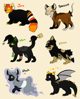 Halloween Adoptables by MikeyOpossum