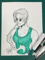 Lara Croft w/markers by wayner8088